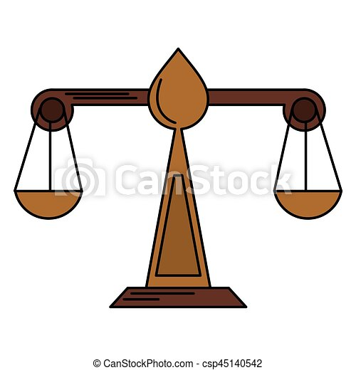 Justice Scale Law Symbol Vector Illustration Eps 10