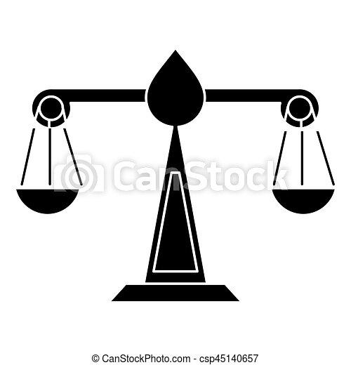 justice scale law symbol pictogram vector illustration eps rh canstockphoto com