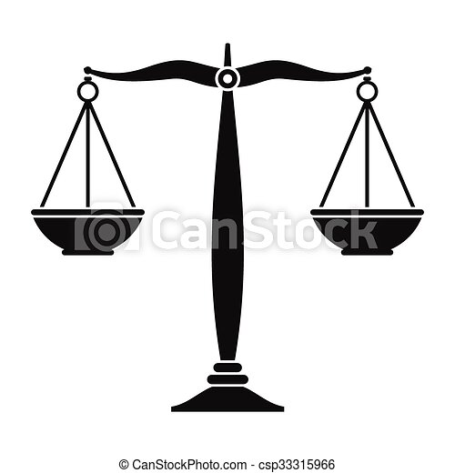 justice scales black icon simple black symbol on a white clip rh canstockphoto com clipart justice gratuit justice clipart