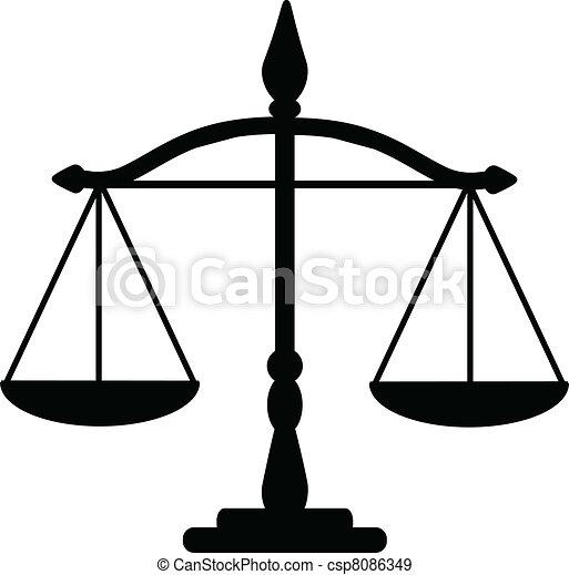 justice scales - csp8086349