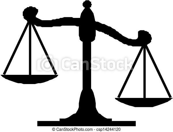 vector illustration of justice scales vector illustration search rh canstockphoto com scales of justice vector image scales of justice vector art free download