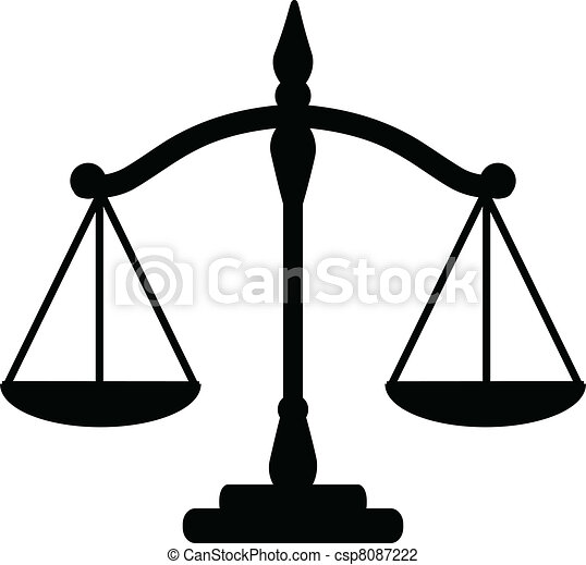 vector illustration of justice scales vector illustration search rh canstockphoto com scales of justice vector art free scales of justice vector art free download