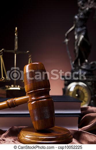 Justice statue, Law  - csp10052225
