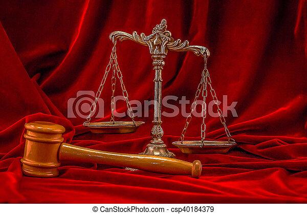 justice, symbole, droit & loi - csp40184379