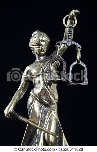justice., symbole, droit & loi - csp26511828