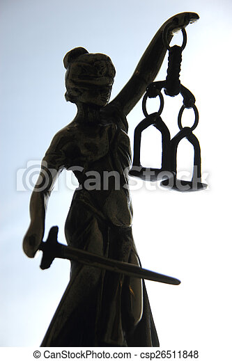 justice., symbole, droit & loi - csp26511848