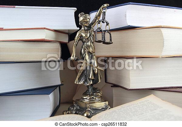 justice., symbole, droit & loi - csp26511832