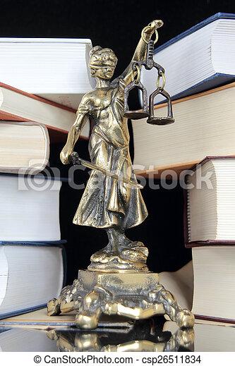 justice., symbole, droit & loi - csp26511834