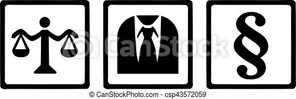 justice, symboles, avocat - csp43572059