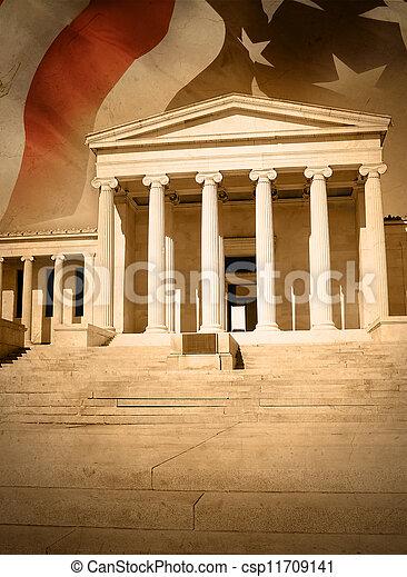 justice, ville, drapeau, droit & loi, tribunal - csp11709141