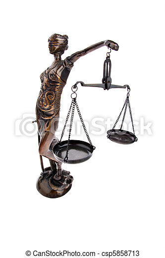 Justice with scales for Law and Justice - csp5858713