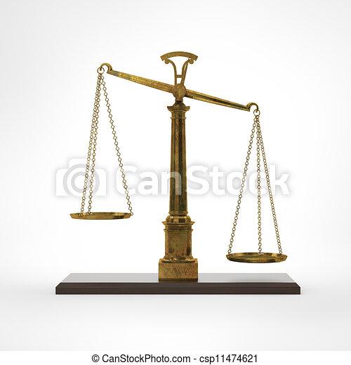 Escamas clásicas de oro de la justicia - csp11474621