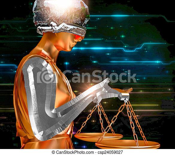 Dama de la justicia - csp24059027