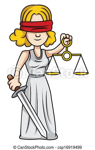 Dama de la justicia - csp16919499
