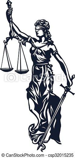 Femida dama justicia - csp32015235