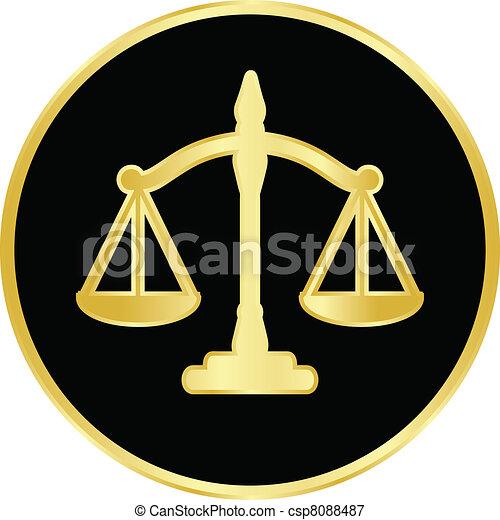 Escamas de justicia - csp8088487