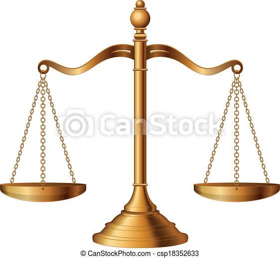 Escamas de justicia - csp18352633