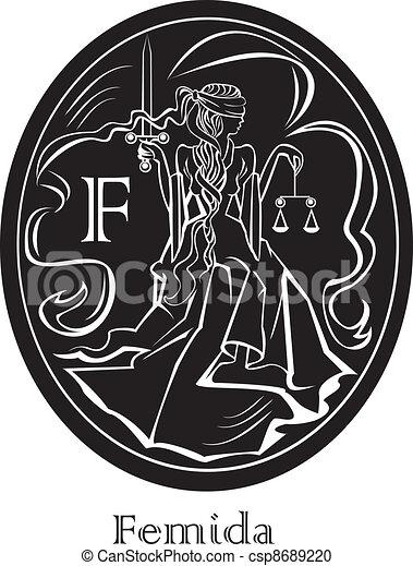 Femida, una diosa de la justicia - csp8689220
