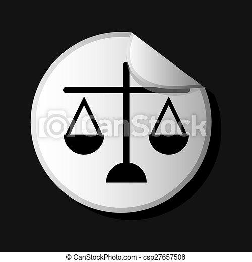 El icono de la justicia - csp27657508