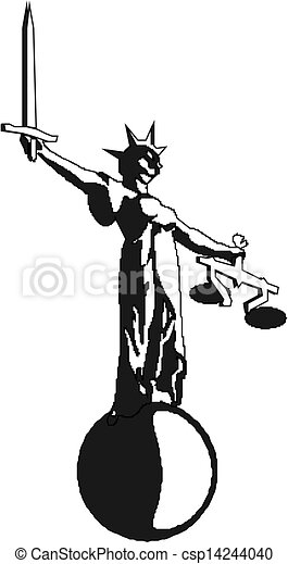 Simbolo de justicia - csp14244040