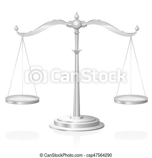 El símbolo de la justicia Scale - csp47564290