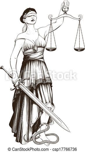 El símbolo de la justicia femida - csp17766736