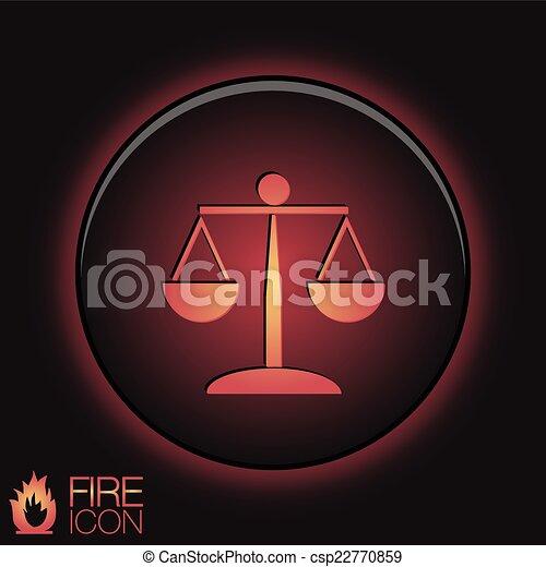 Icono de las escalas de la justicia. El símbolo de la justicia - csp22770859