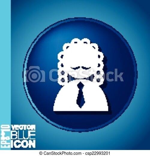 Juez avatar de Icon. El símbolo de la justicia - csp22993201