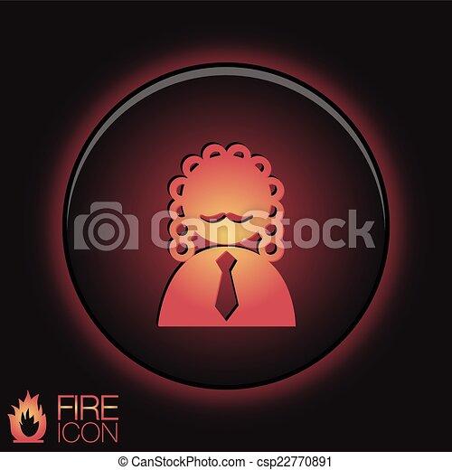 Juez avatar de Icon. El símbolo de la justicia - csp22770891