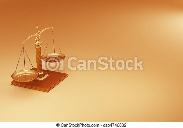 Escala. El símbolo de la justicia - csp4746832