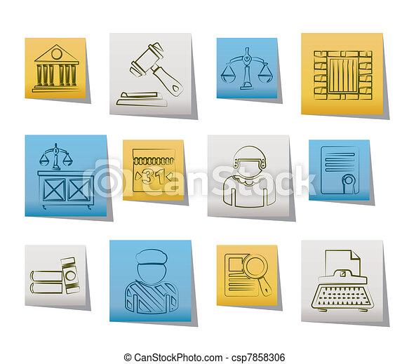 Justicia y iconos del sistema judicial - csp7858306