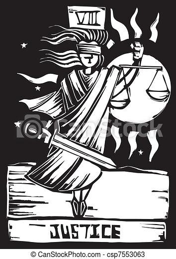 Justicia de las cartas Tarot - csp7553063
