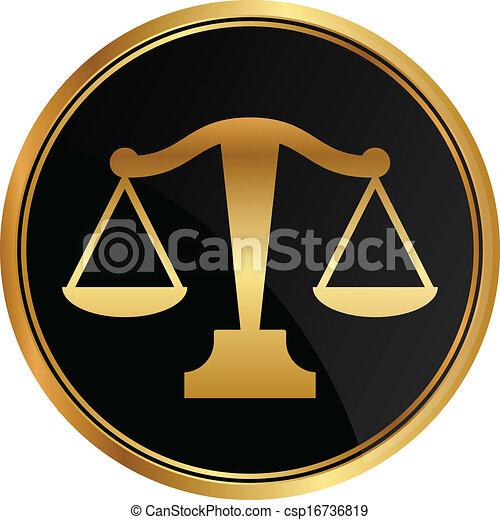 La justicia vectorial escala icono - csp16736819