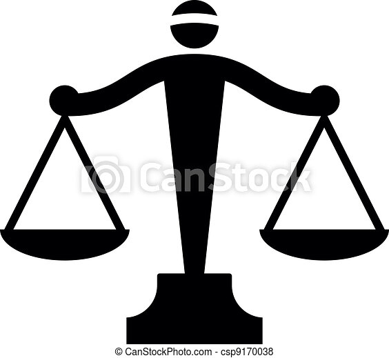 Icono Vector de escalas de justicia - csp9170038