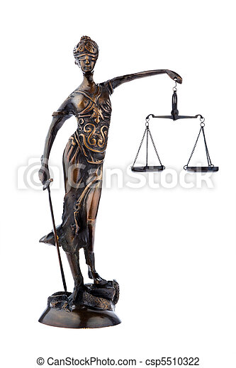 Justitia figure with scales. Law and Justice. - csp5510322