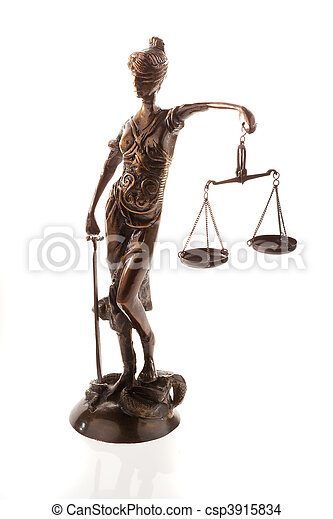 Justitia Symbol Of Justice Justice With Scales Symbol Of Stock