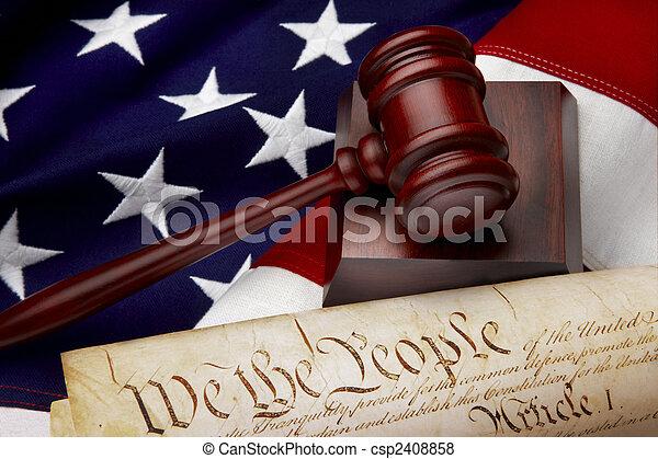 justitie, amerikaan, stilleven - csp2408858