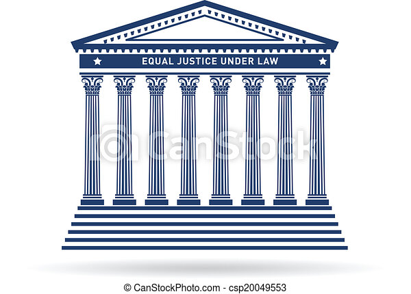 justitie, gebouw, beeld, versieren, logo - csp20049553
