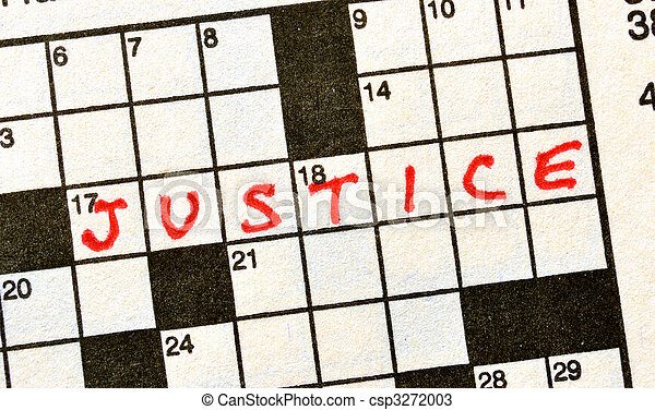justitie, kruiswoordraadsel, woord - csp3272003