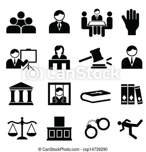 justitie, wettelijk, iconen - csp14739290