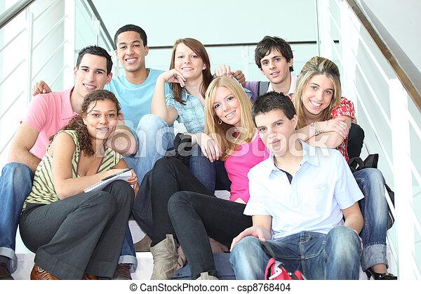 juventude, escadas - csp8768404