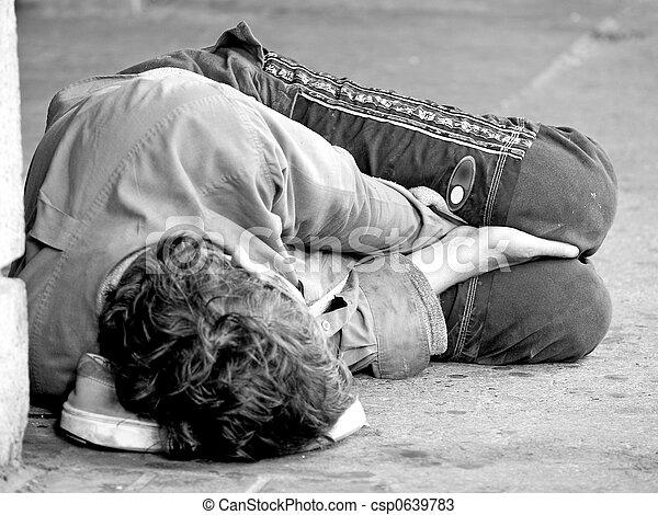 juventude, rua, desabrigado - csp0639783