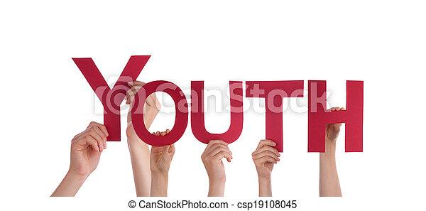 juventude, segurar passa - csp19108045