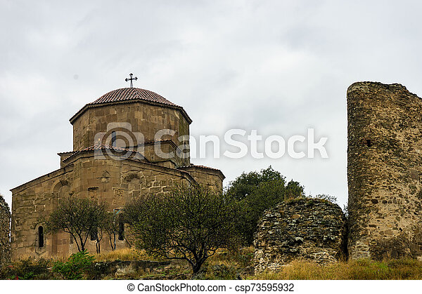 Monasterio Jvari, Georgia - csp73595932