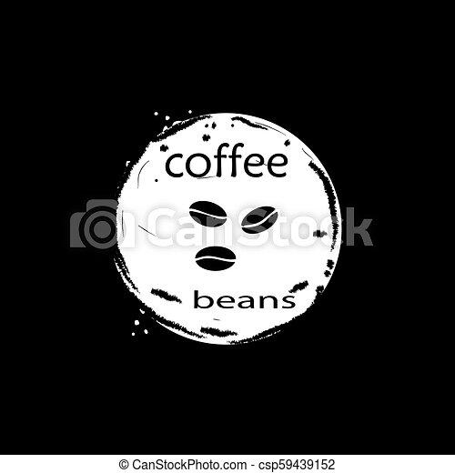 kávécserje fej, ikon - csp59439152