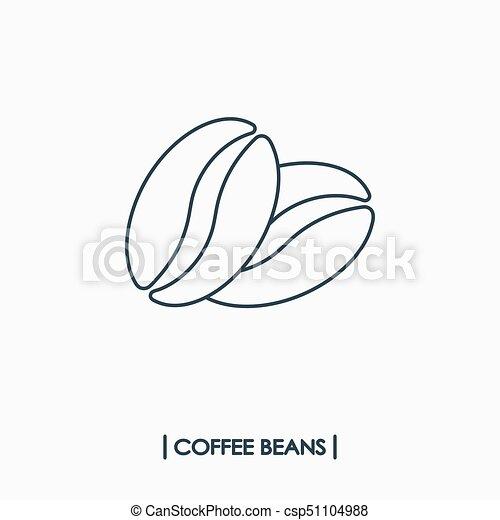 kávécserje fej, ikon - csp51104988