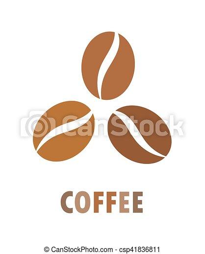 kávécserje fej, ikon - csp41836811