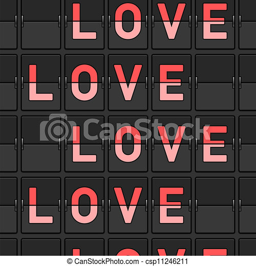 kärlek, flip, bord - csp11246211