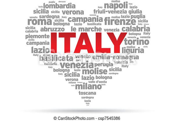 kärlek, italien - csp7545386