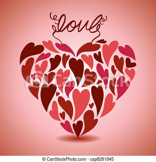 kärlek, kort - csp8281845